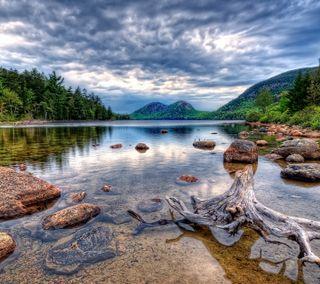 Обои на телефон чистые, озеро, горы, вода, clear mountain water
