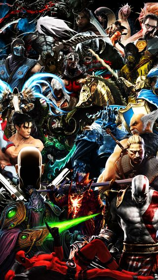 Обои на телефон юнайтед, хитман, скайрим, игра, диабло, tekken, starcraft, halflife, gamers united