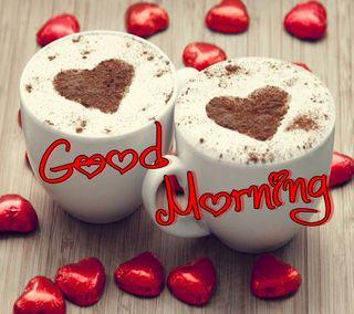 Обои на телефон утро, сердце, приятные, милые, любовь, кофе, высказывания, love