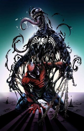 Обои на телефон веном, человек паук, против, марвел, комиксы, venom vs spiderman, stan, marvel