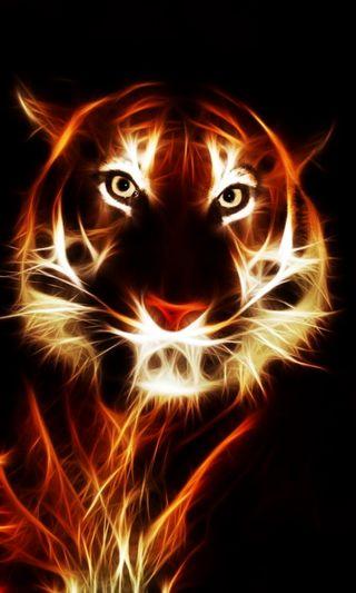 Обои на телефон леопард, тигр, неоновые, лев
