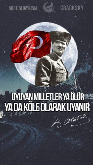 Обои на телефон ататюрк, man, dolunay, ay yuzlu