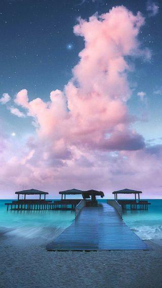 Обои на телефон тропические, природа, пляж, пейзаж, небо, лето