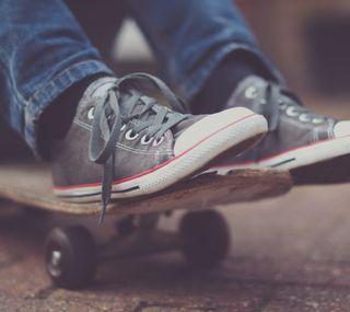 Обои на телефон скейтборд, скейт, allstar