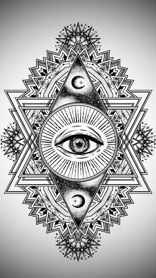 Обои на телефон племенные, черные, тату, символ, звезда, дизайн, глаза, themoon, designart