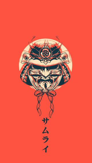 Обои на телефон самурай, японские, токио, дизайн, демоны, векторные, арт, samurai6, art, 2019