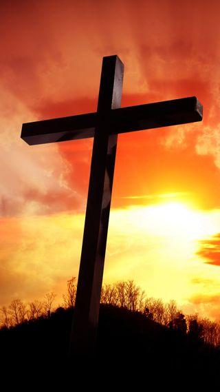 Обои на телефон верить, христианские, крест, исус, закат, духовные, бог, son of god, crucifixion