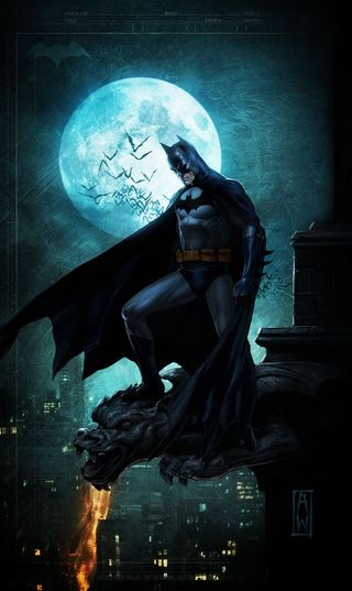 Обои на телефон гром, фантазия, темные, рыцарь, луна, дождь, джокер, бэтмен, арт, art