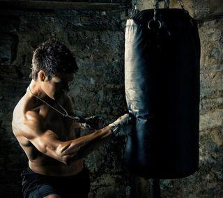 Обои на телефон бой, цветные, спортивные, мма, бокс, арт, martial, kickboxing, bag