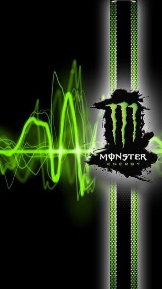 Обои на телефон энергетики, гонка, черные, напиток, лиса, зеленые, monster energy s7, monster