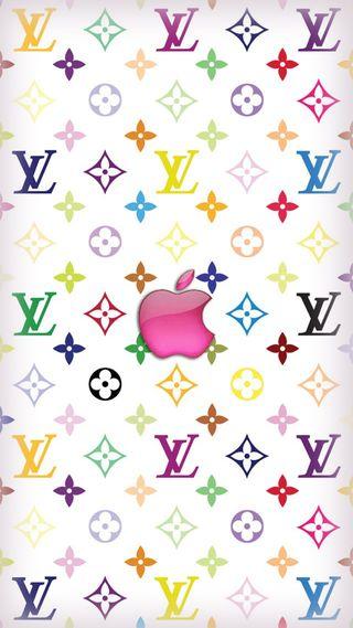 Обои на телефон эпл, луи витон, lv apple, apple