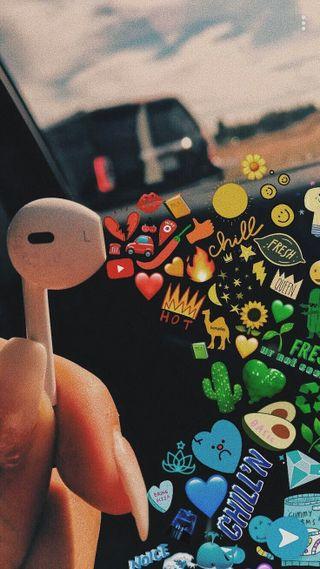 Обои на телефон эстетические, фон, airpod