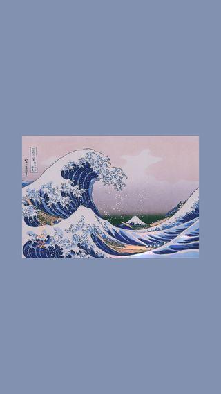 Обои на телефон великий, эстетические, волна, арт, great wave, art
