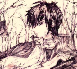 Обои на телефон рисунки, парень, набросок, мальчик, аниме, anime guy
