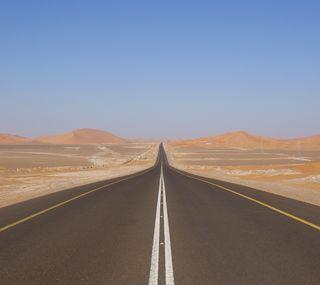 Обои на телефон пустыня, дорога, горы