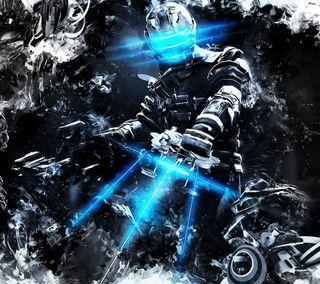 Обои на телефон солдат, ужасы, оружие, мертвый, космос, игра, абстрактные, dead space 3, dead space