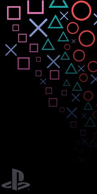 Обои на телефон символы, игровые, пс4, геймер, ps4, playstation symbols, playstation