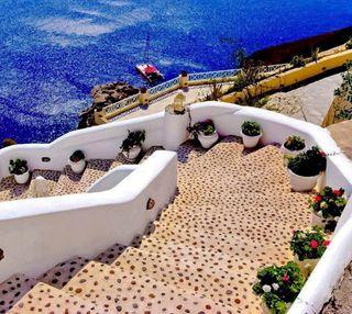 Обои на телефон греция, удивительные, рай, природа, santorini, paradise hd