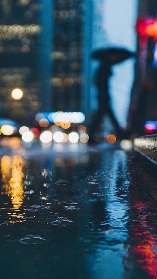 Обои на телефон улица, стандартные, дождь, гугл, город, pixel 2 xl, pixel, google