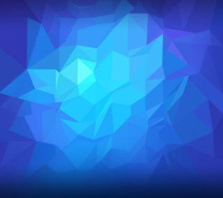 Обои на телефон формы, бриллиант, синие, абстрактные, nubia
