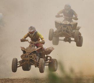 Обои на телефон мотоцикл, колея, грязь, гонка, dirt, 2 up