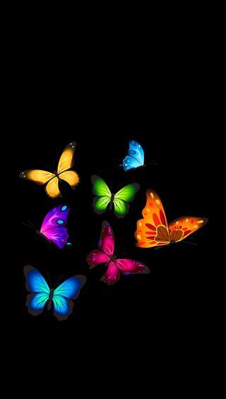 Обои на телефон полет, бабочки, абстрактные