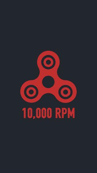 Обои на телефон черные, красые, игрушка, spinner, rpm, fidget, fast, 10000 rpm spinner