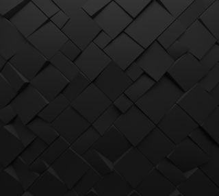 Обои на телефон квадраты, черные, поверхность, арт, абстрактные, surface polygonal, polygons, chaotic art, 3д, 3d