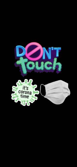 Обои на телефон корона, черные, трогать, маска, staysafe, stayhome, itscoronatime, corona covid-19, alwaysondisplay