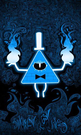 Обои на телефон синие, билл, gravityfalls-blue, gravityfalls, coloredblue