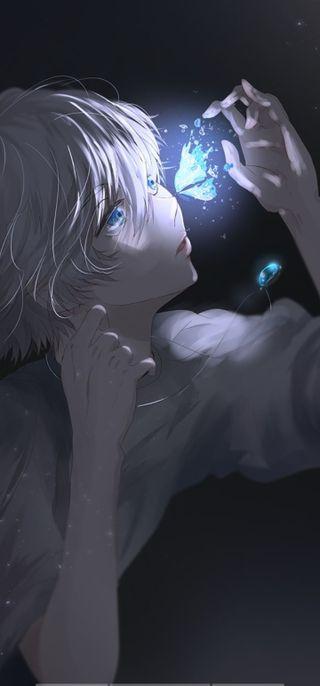 Обои на телефон мальчик, аниме