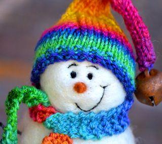 Обои на телефон снеговик, милые, красочные, cute colorful