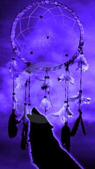 Обои на телефон языческий, ловец снов, черные, фиолетовые, мечта, любовь, ловец, животные, волк, wolf dream catcher, love
