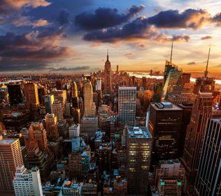 Обои на телефон фото, цветные, пейзаж, новый, йорк, город