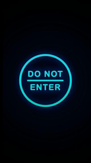 Обои на телефон заблокировано, экран блокировки, черные, синие, простые, неоновые, крутые, знаки, забавные, дизайн, далеко, hd, go away, do not enter