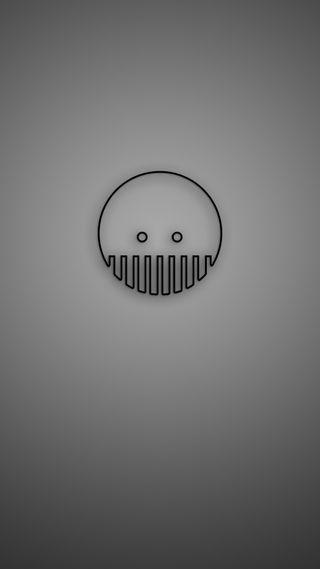Обои на телефон простые, череп, фан, серые, забавные, дизайн, humour, funnyskull