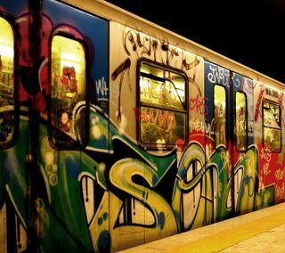 Обои на телефон поезда, граффити, новый, крутые, subway, 2014