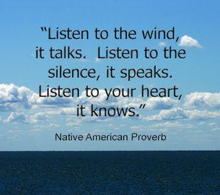 Обои на телефон тишина, слушать, сердце, родной, знать, ветер, американские, speak, native american, listen to the wind