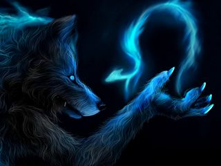 Обои на телефон магия, волк, spell