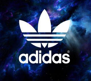 Обои на телефон облака, космос, логотипы, глубокие, адидас, deep space, adidias, adidas deep space