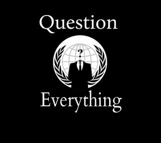 Обои на телефон свобода, вопрос, анонимус, question everything