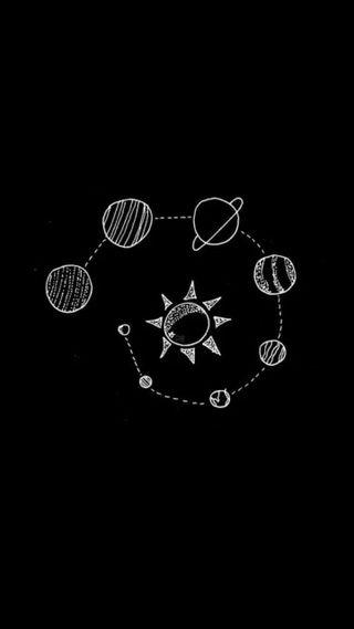 Обои на телефон наука, черные, планеты, космос