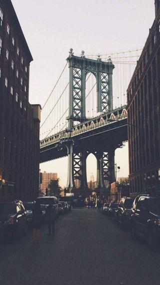 Обои на телефон нью йорк, мост, лайк, город, newyork bridge city