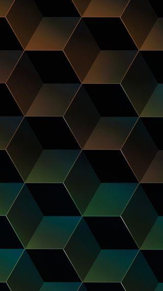 Обои на телефон 3d, hd, chocolate cubes, золотые, 3д, кубы, куб, формы, шоколад, шестиугольники, шик, острый