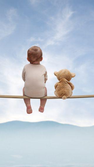 Обои на телефон тедди, дети, навсегда, милые, медведь, малыш, любовь, друзья, love, friends forever