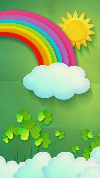 Обои на телефон ирландские, фан, радуга, праздник, пиво, ирландия, зеленые, вечеринка, везучий