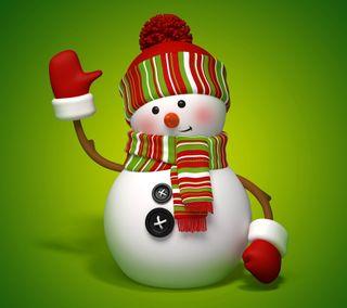 Обои на телефон снеговик, счастливое, рождество, милые, 3д, 3d