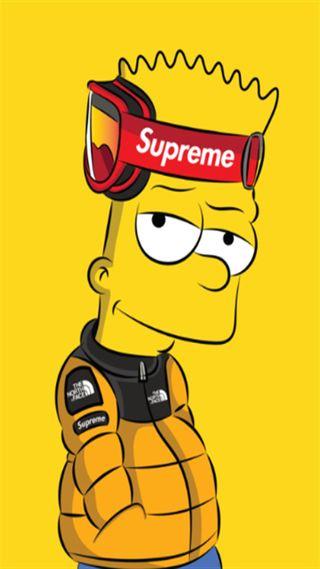 Обои на телефон симпсоны, север, барт, реал, мультфильмы, красые, желтые, дисней, supreme, disney, 20