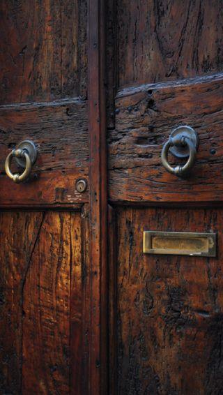 Обои на телефон старые, коричневые, красые, деревянные, дерево, дверь, handle, brass