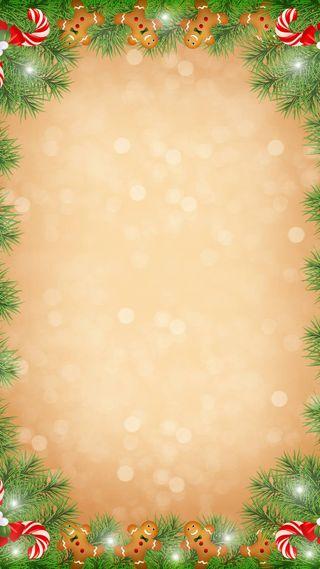 Обои на телефон конфеты, рождество, блестящие, tan, gingerbread man, gingerbread, garland, candy cane